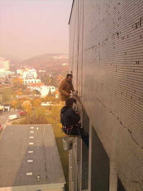 výškové práce horolezeckou technikou